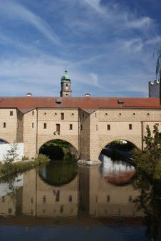 Old Town Water Gate In Amberg Stock Photos