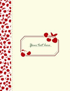 Free Card With Cherries For Your Design Stock Photo - 26992840