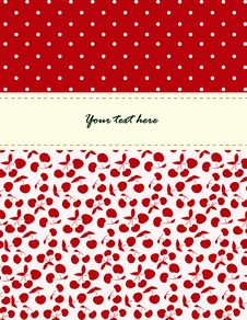 Free Card With Cherries Pattern Stock Images - 26992854