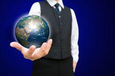 Free Digital Globe Ball On Hand Royalty Free Stock Photos - 26993138