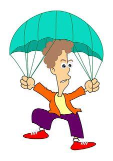 Free Parachutist Royalty Free Stock Photos - 26995048