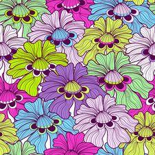 Free Seamless Floral Spotty Pattern Stock Photo - 26995360