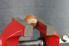 Free Cracking A Nut Royalty Free Stock Image - 271436