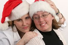 Free Santa Sisters 1 Royalty Free Stock Images - 271849