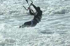 Free Kite Surfer 3 Royalty Free Stock Photos - 272478