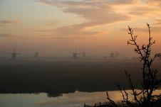 Free Windmills At Sunrise Stock Photography - 274612