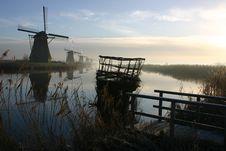 Free Windmill In Kinderdijk Stock Photo - 274620