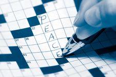 Peace Crossword Royalty Free Stock Image