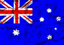 Free Grunge Australian Flag Royalty Free Stock Photo - 276745