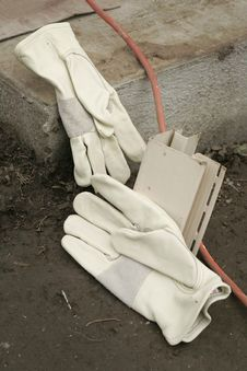 Free Gloves On A Work Site Stock Images - 276804