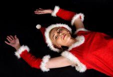 Female Santa Claus No.2 Stock Image