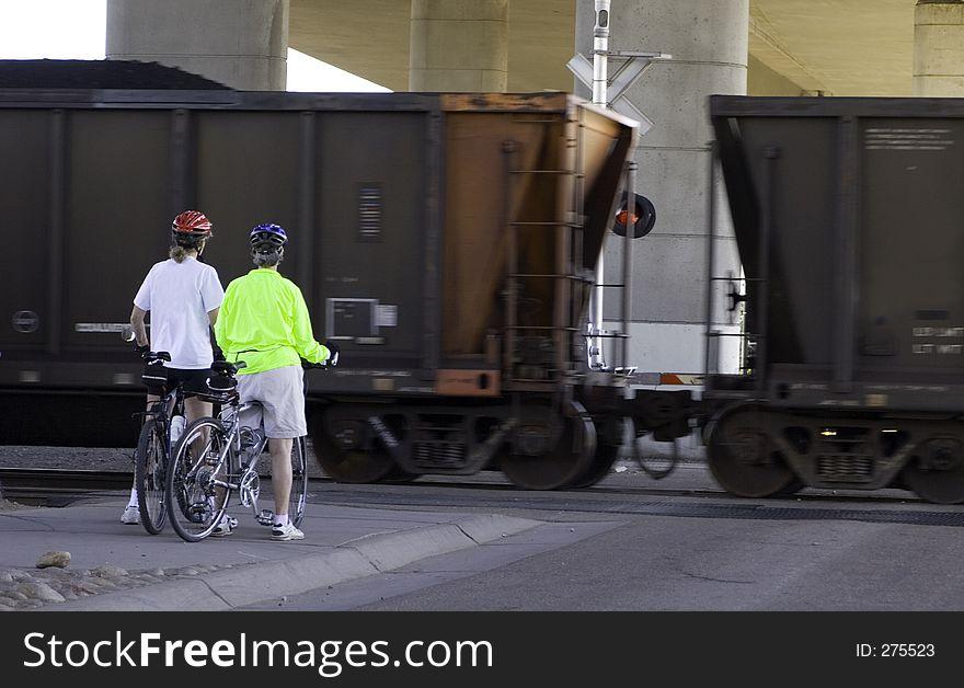 Bikers Wait