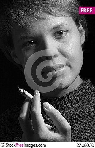 Free Close-up Smoking Girl Stock Photo - 2708030
