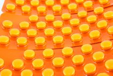Free Orange Tablets Royalty Free Stock Image - 2700136