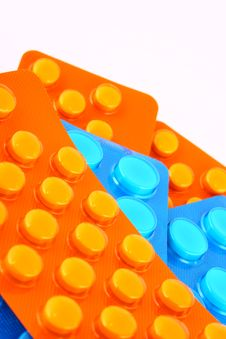 Free Blue And Orange Tablets Royalty Free Stock Photos - 2701138