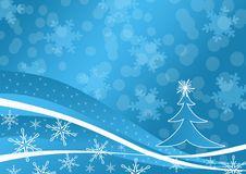 Free Blue Winter Background Stock Image - 2701201