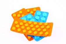 Free Blue And Orange Tablets Royalty Free Stock Photography - 2701247