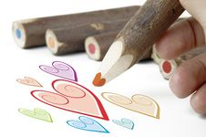 Free Hearts And Pencils Stock Images - 2701834
