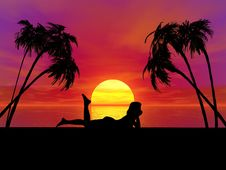 Free Sunset Woman Royalty Free Stock Photo - 2701945