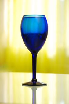 Blue Cobalt Vine Glass Royalty Free Stock Images