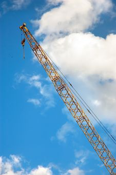 Free Crane On The Sky Background Stock Photography - 2704392