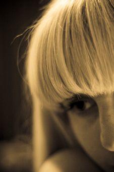 Blonde Girl Portrait Royalty Free Stock Image