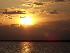 Free Orange Sunset Royalty Free Stock Photo - 2704665