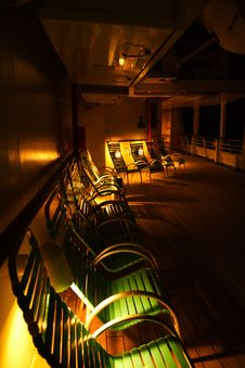 Free Deck Chairs At Night Stock Photos - 2704823