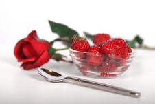 Free Strawberries And Rose Stock Photos - 2705053