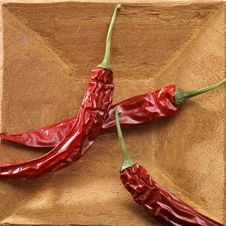 Free Red Pepper On Wood Stock Image - 2706131