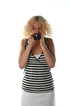 Free Girl With A Cup Stock Images - 2706314