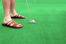 Free Putting Green Royalty Free Stock Images - 2706889