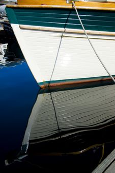Free Classic Wood Boat Docked Royalty Free Stock Image - 2707366