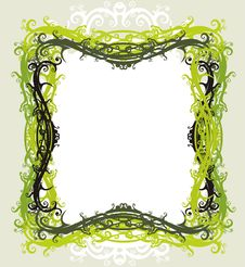 Free Decorative Floral Frame Royalty Free Stock Image - 2707706