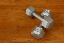 Free Ten Pound Dumbells I Royalty Free Stock Images - 2708719