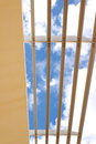 Free Louver/sun Shade With Blue Sky Background Royalty Free Stock Photos - 27008958