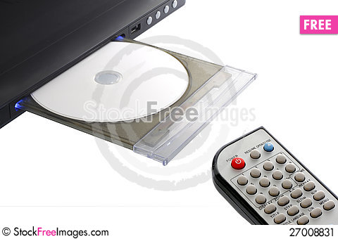 Free Dvd Player With Remote Control Stock Image - 27008831