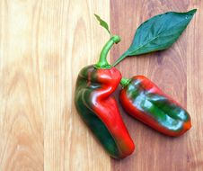 Free Two Peppers Royalty Free Stock Photo - 27000225