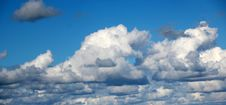 Free Panorama Of  Clouds In Spring Royalty Free Stock Photo - 27003115