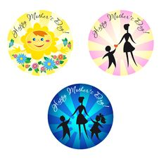 Free Badge With Marks For Mother S Day Royalty Free Stock Photo - 27003455