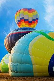 Four Hot Air Balloon Stock Photography