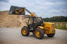 Free Telescopic Loader Royalty Free Stock Photos - 27004258