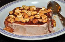 Indian Chocolate Dry Fruit Ice Cream Royalty Free Stock Image