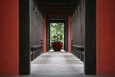 Beautiful Corridor To The Garden Royalty Free Stock Photography