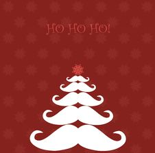 Free Christmas Tree Made Of Santa S Moustaches Royalty Free Stock Photo - 27006945