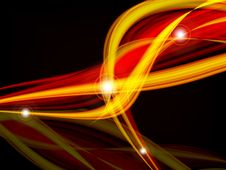 Free Wavy Lines With Copy Space. Eps10 Royalty Free Stock Photo - 27007655