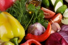 Bell Pepper And Various Vegetables Stock Photography