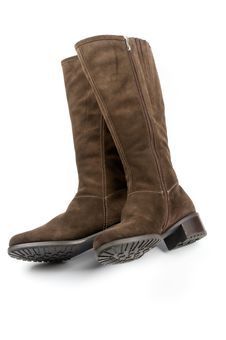 Brown Female Boots Royalty Free Stock Photography