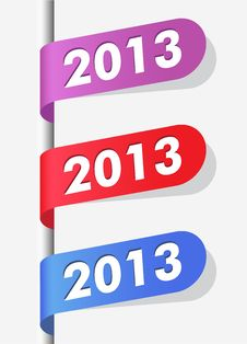 Free New Year Labels Stock Photo - 27008680