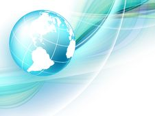 Blue Vector Background With Globe. Eps10 Royalty Free Stock Image
